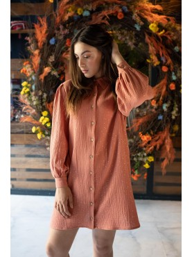 Robe Joy en imprimé terracotta