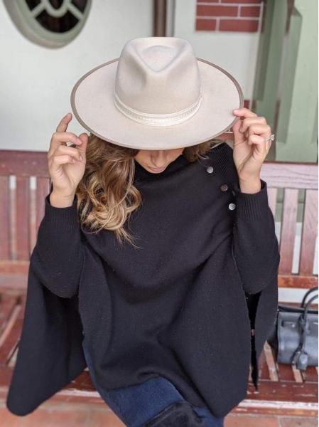 Chapeau Paloma ruban beige