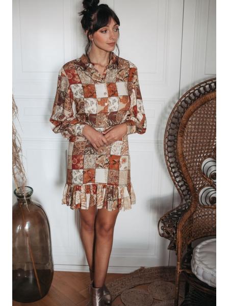 Robe Carmen Patchwork